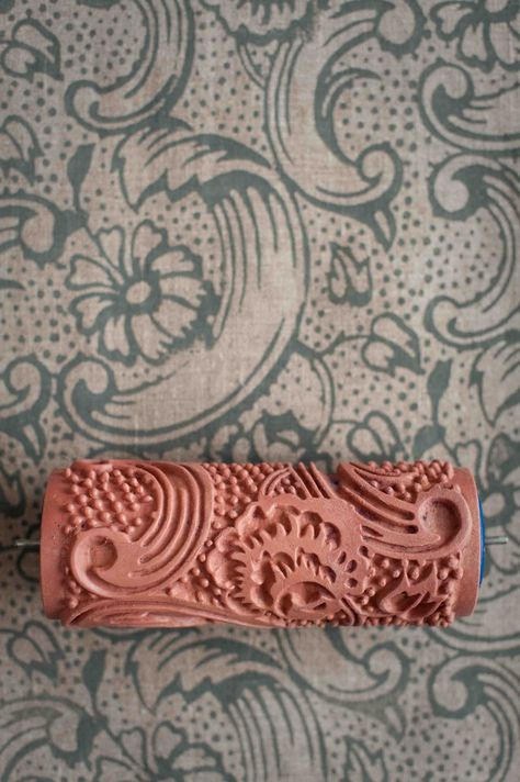 This Etsy shop has some really wonderful rollers that are great for clay!     No. 7 Patterned Paint Roller from The Painted House. £15.00, via Etsy.