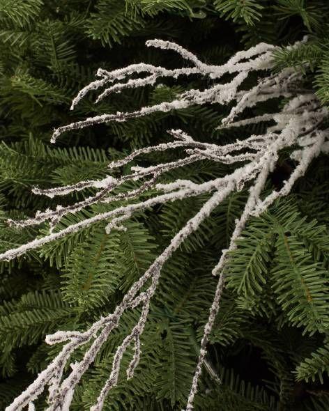 Snowy Branch Picks Set Of 12 Main Christmas Tree Picks Slim Christmas Tree Slim Artificial Christmas Trees
