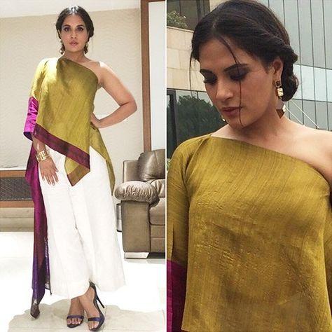 Richa # Payal Khandwala # day event look# Indian fashion.