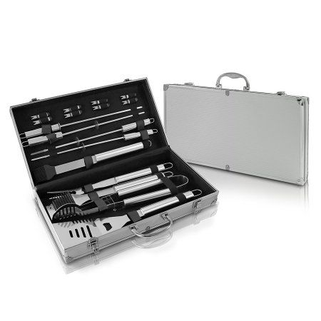 Doatry BBQ Grill Tools Set with 35 Barbecue Accessories Stainless ...