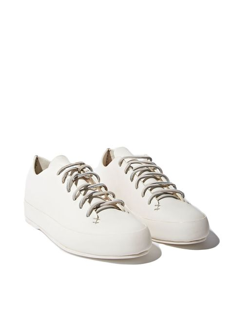 Feit Women s Handsewn Leather Low Sneakers In White  7321d692141c7