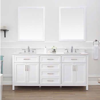 Lakeshore 72 Vanity By Ove White Double Vanity 72 Vanity