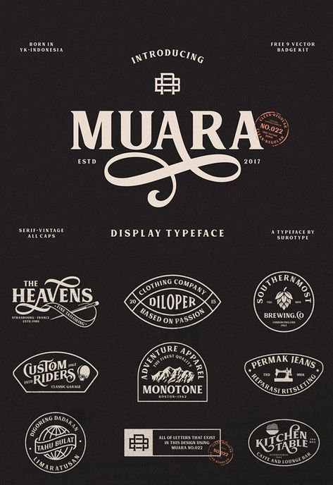 20 Free Vintage Fonts For Graphic Designers Vintage Fonts Typography Logo Vintage Logo Design