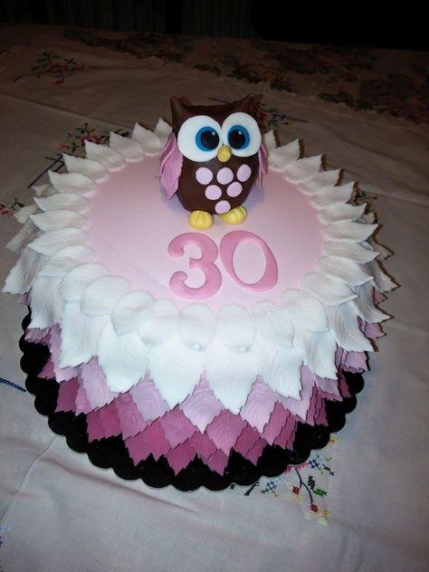 #torta #gufetta per il trentesimo compleanno! Idea della pasticceria La Mimosa di Tollo  http://www.simocakedesigner.it