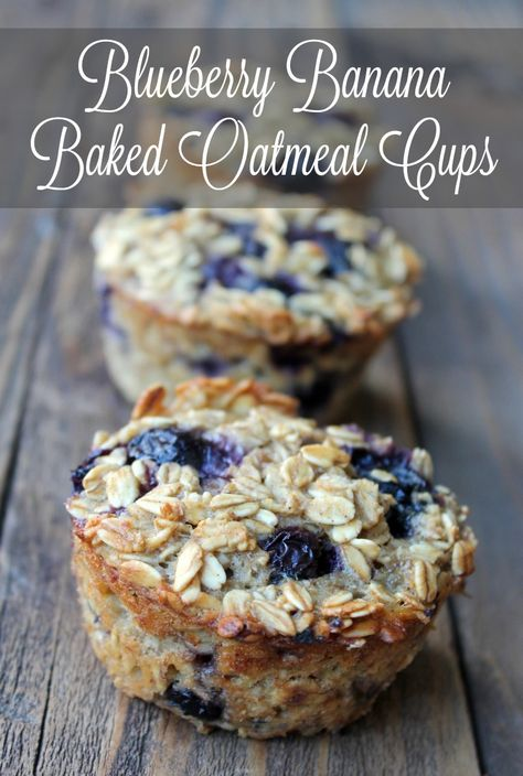 Banana Baked Oatmeal Cups Blueberry Banana Baked Oatmeal Cups A healthy and nutritious make-ahead breakfast for the whole family!Blueberry Banana Baked Oatmeal Cups A healthy and nutritious make-ahead breakfast for the whole family! Baked Oatmeal Cups, Baked Oatmeal Recipes, Baked Banana, Baked Oats, Blueberry Banana Oatmeal Muffins, Oatmeal Bites, Oats Recipes, Banana Oatmeal Bars, Vegan Baked Oatmeal