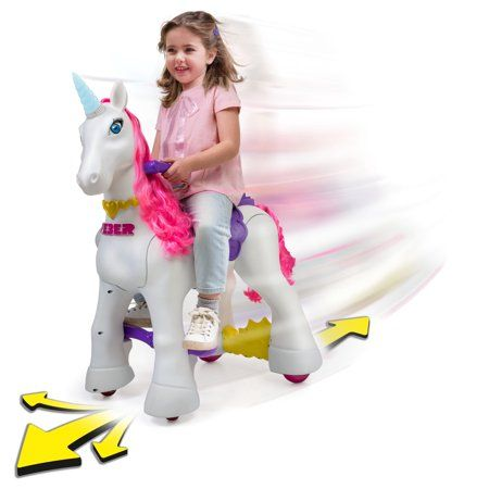 Famosa Feber My Lovely Ride On Unicorn Walmart Com Unicorn Toys Kids Baby Doll Accessories