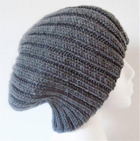 Aran Beanie Pom Pom Hat Knitting Pattern Ribbed Beanie Pdf Knitting