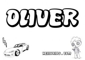 Oliver Boys Names Coloring Page Name Coloring Pages Names Of Jesus Coloring Pages