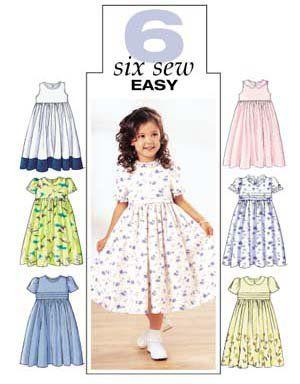 Butterick 3762 easy children's dress | my patterns | Dresses