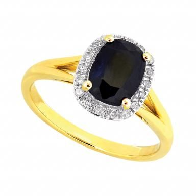 10k Yellow Gold Sapphire Diamond Earrings Yellow Gold Sapphire Sapphire Earrings Studs Sapphire Diamond
