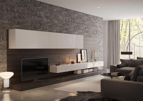 Wohnzimmer Wand Ideen Gestaltung Ziegel Deko Wohnzimmer - wandideen