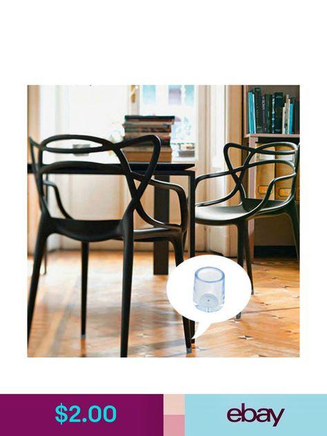 8PC Durable Rubber Table Chair Leg Floor Feet Cover Protector 12.7 ...