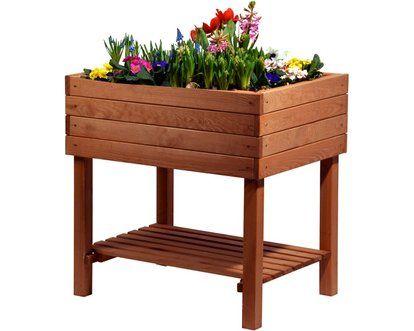 Dobar Hochbeet 80 Cm X 80 Cm X 60 Cm Mit Ablageboden Braun In 2020 Hochbeet Boden Und Gartenabfall