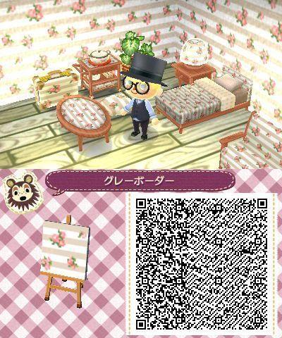 Qr Code Floral Wallpaper Adorbiert Acnl Qr Codes Animals