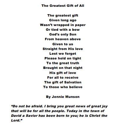 The Greatest Gift. A Christmas Poem. | Wisdom | Pinterest | Poem ...