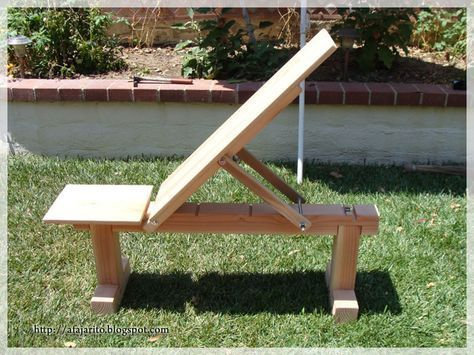 Sensational Weight Bench 5 Position Flat Incline Doubles As Patio Theyellowbook Wood Chair Design Ideas Theyellowbookinfo
