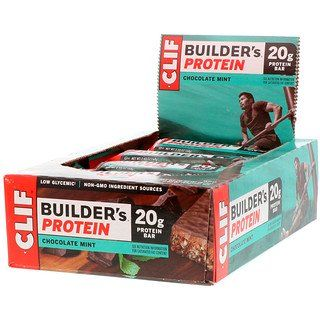 Clif Bar Builder S Protein Bar Chocolate Mint 12 Bars 2 40 Oz 68 G Each In 2020 Protein Bars Clif Bars Mint Chocolate