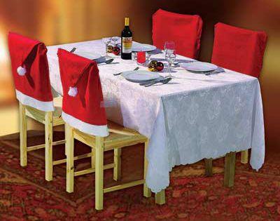 Coprisedie In Stoffa.Set 4 Coprisedie Natalizi Dmail Natale Christmas