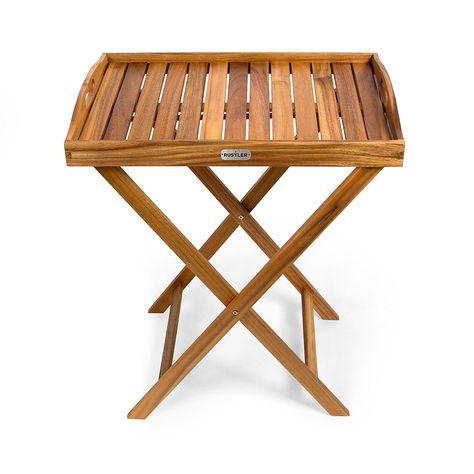 Tavolo Pieghevole Con Vassoio.Rustler Tavolino Pieghevole Con Vassoio In Legno 42 5 X 60 X 73