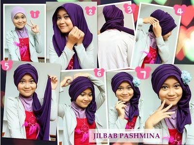 Tutorial Hijab Segi Empat Kombinasi Dua Warna Edukasi Lif Co Id