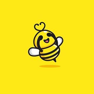 Shy Bee Logo Idea Design Made By Vaneltia Design Logoplace Graphicdesign Creativity Flatdesign Adobe Illustrator Photoshop Logo Design Cute Logo Logos
