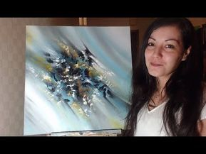 An Easy Way To Start An Abstract Painting Acrylmalen Youtube