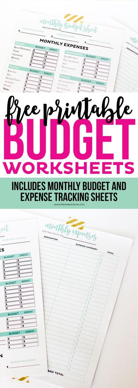 Free Printable Budget Sheets  Printable Budget Sheets Budget