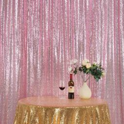 10 X 10 Ft Sequin Backdrop Draping Blush Pink Sequin Backdrop