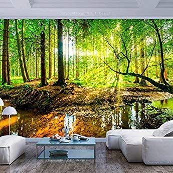 Murando Fototapete Wald 350x256 Cm Vlies Tapete Moderne