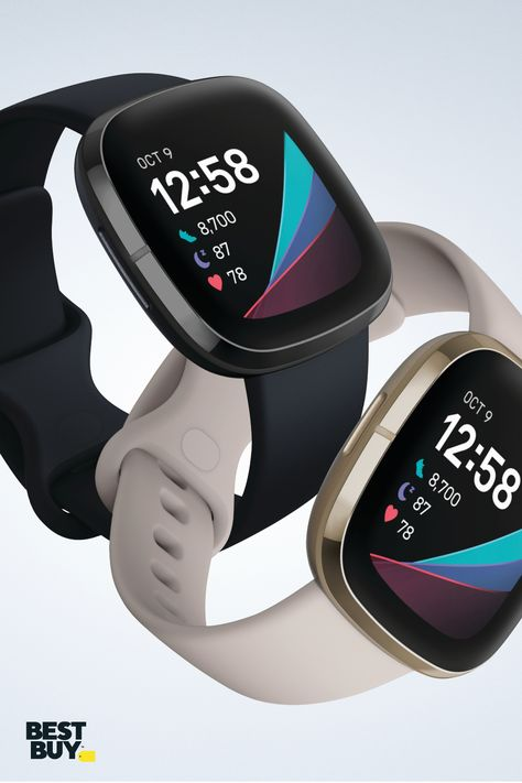 Tracking changes to your well-being just got easier. The new Fitbit Sense has innovative tools for heart health, stress management and more to help you uncover trends and know your body better.   High Tech Gadgets, Gadgets And Gizmos, Cool Gadgets, Health Exercise, Health Fitness, Short Hair Older Women, Tech Room, Cardi B Photos, Black Audi