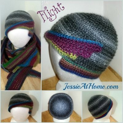 Free Flight Hat Crochet Pattern Easy Skill Level Designed by Jessie Rayot