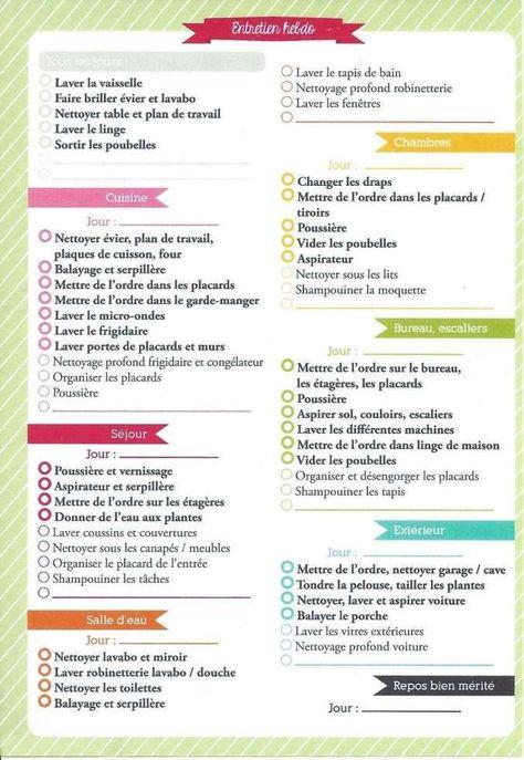 10 Astuce Pour Le Menage En 2020 Planning De Nettoyage Planning Tache Menagere Organisation Menage