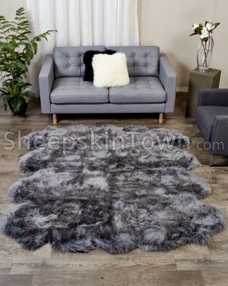 Ivory White Extra Large Sheepskin Rug