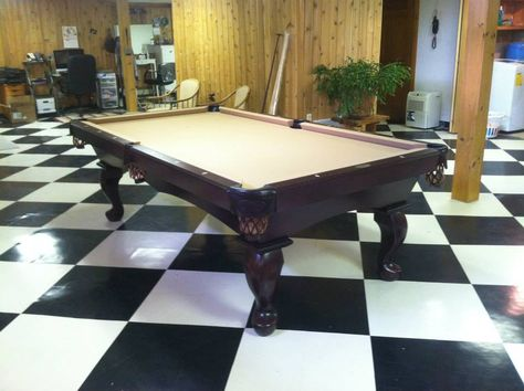 Connelly Catalina Pool Table Shown In Black Lacquer On Maple The - Connelly catalina pool table