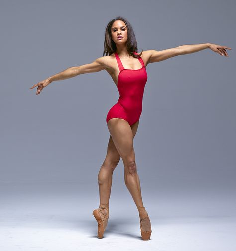 She helped with the design. Professional ballerina Misty Copeland made history when she became the first African-American female principal dancer at the American Ballet Theatre. Now she's the lates… Misty Copeland, Dance Photography Poses, Dance Poses, Yoga Poses, Black Dancers, Ballet Dancers, Ballerinas, Foto Sport, Black Ballerina