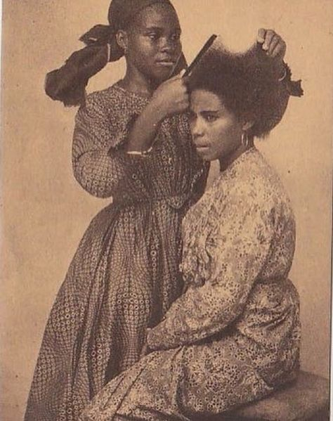 Hair has such power over the females, you can be certain it's spiritual so spiritual among black girls, it changes our attitudes and mood. Black Hair History, Black History Facts, African Culture, African American History, West Indies, Black Girl Magic, Black Girls, Trinidad, Arte Hip Hop