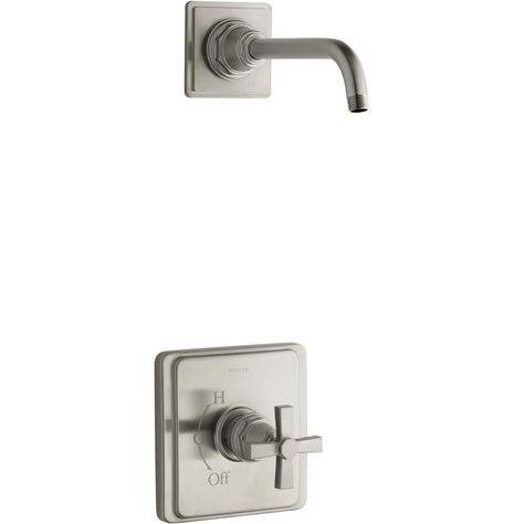 Handle Wall Mount Shower Faucet Trim