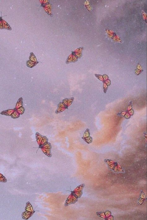 Add butterflies to your home screen with this free aesthetic wallpaper. #butterfly #grunge #freedownloadable