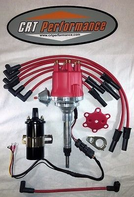Small Cap Chevy Inline 6 Cylinder 194 235 Red Hei Distributor 45k Coil Wires Chevy Chevy Trailblazer New Chevy