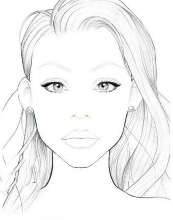 Makeup Maquiagem Facechart Ilustracao Rosto Para Maquiar