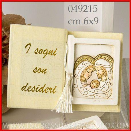 Bomboniere Icone Sacra Famiglia A Forma Di Libro Quadretti In Resina Ingrosso 3d Religiose Battesimo Online Bomboniera Bomboniere Sacra Famiglia