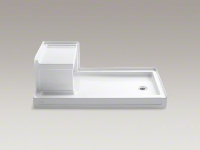 Tresham 60 X 36 Single Threshold Right Hand Drain Shower Base With Integral Left Hand Seat Shower Base Shower Stall Bases