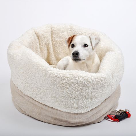 Kuschelsack Zampelbudel Grau Hunde Bett Kuschelsack Hund