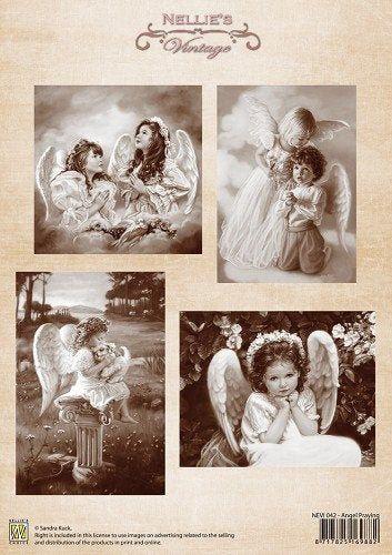 Image Vintage Nellie's pour carte et scrapbooking, choississez
