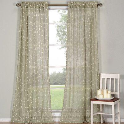 Kerr Linen Rod Pocket Sheer Curtain Panel Wayfair
