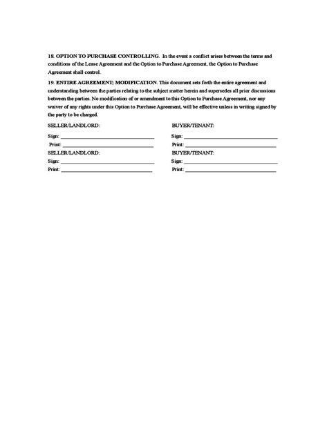 Rent to Own Agreement Sample Form Contracts Pinterest Templates - sample rent to own template