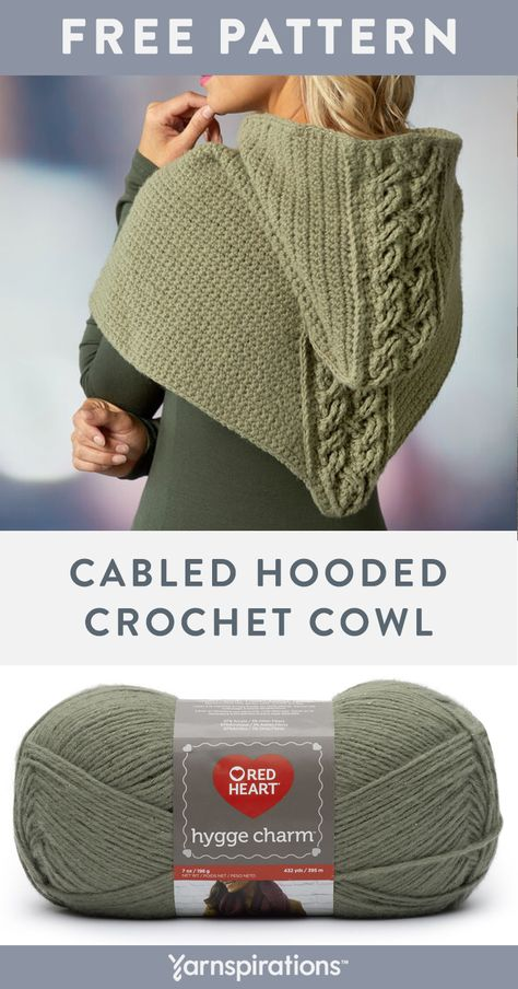 Free crochet pattern using Red Heart Hygge Charm yarn. This is the perfect cowl for the winter weather. You can wear this cowl under a jacket or with a simple… Love Knitting, Knitting Blogs, Knitting Projects, Knitting Patterns, Crochet Patterns, Knitted Cowl Patterns, Crochet Symbols, Knitting Tutorials, Crochet Scarves