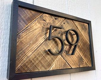 Rustic House Numbers Farmhouse Address Sign Modern House Number Sign Reclaimed Wood Address Si In 2020 Rustic House Numbers House Numbers