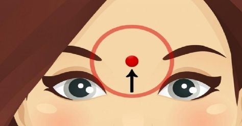 Ce petit point sur votre front cache de grands pouvoirs: Voici pourquoi on devrait le masser quotidiennement - Trucs et Astuces - Trucs et Bricolages