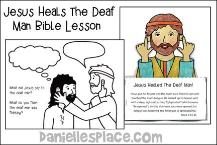 Jesus Heals The Deaf Man Crafts And Activities Deaf Man Jesus